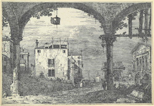 Canaletto. Portico with lantern, c1741-44. Etching, 29.8 x 43.1 cm. The Courtauld Gallery, London.