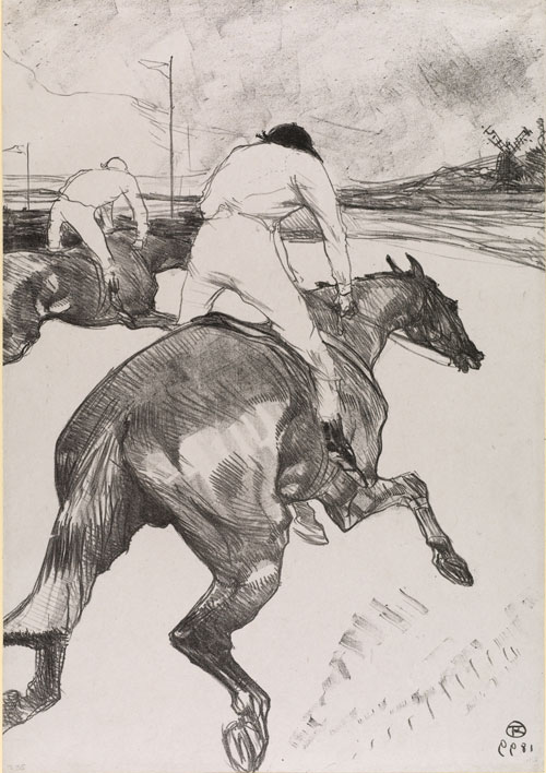 Henri de Toulouse-Lautrec. The Jockey, 1899. Lithograph, 51.6 x 36.3 cm. The Courtauld Gallery, London.