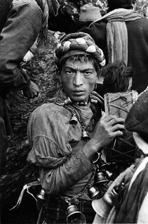 Kevin Bubriski. <em>&nbsp;Tamang Shaman, Gosainkund, &nbsp;Lake Rasuwa District</em>, 1978. Gelatin silver print, 18 x 14 in. &copy; Collection of Kevin Bubriski
