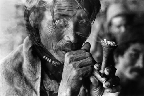 Kevin Bubriski, <em>Porters at Thare village en route to Langtang valley, Rasuwa district, </em>1976. Gelatin silver print, 14 x 18 in. Collection of Kevin Bubriski