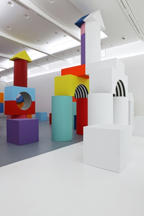 Daniel Buren. Comme Un Jeu d'Enfant / Like Child's Play, Work In Situ. Installation view (2), MAMCS, Strasbourg, June 2014. © Daniel Buren - ADAGP Paris. Photograph: Phoebé Meyer.