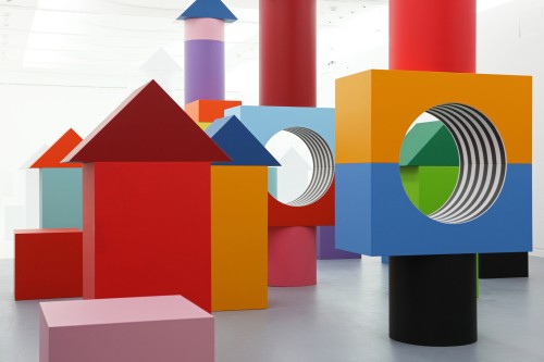 Daniel Buren. Comme Un Jeu d'Enfant / Like Child's Play, Work In Situ. Installation view (4), MAMCS, Strasbourg, June 2014. © Daniel Buren - ADAGP Paris. Photograph: Phoebé Meyer.
