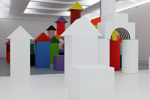 Daniel Buren. Comme Un Jeu d'Enfant / Like Child's Play, Work In Situ. Installation view (6), MAMCS, Strasbourg, June 2014. © Daniel Buren - ADAGP Paris. Photograph: Phoebé Meyer.