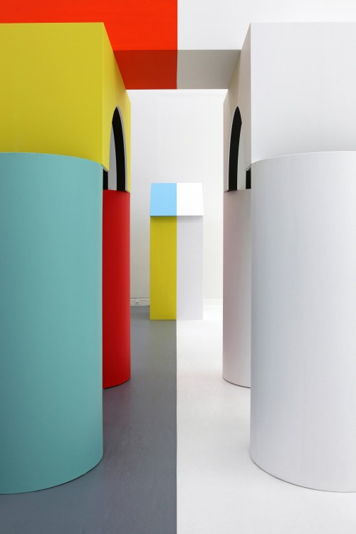 Daniel Buren. Comme Un Jeu d'Enfant / Like Child's Play, Work In Situ. Installation view (7), MAMCS, Strasbourg, June 2014. © Daniel Buren - ADAGP Paris. Photograph: Phoebé Meyer.
