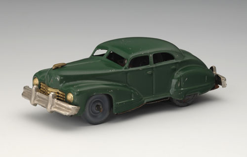 General Motors Cadillac 62 Four-Door Sedan, 1947, marked <em>Made in Occupied Japan</em>. 5 1/8 x 2 x 1 3/4 in. (13 x 5 x 4.5 cm). Yoku Tanaka Collection. Photo: Tadaaki Nakagawa