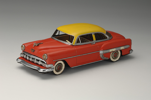 General Motors Chevrolet Bel Air Two-Door Sedan, 1954. 11 3/8 x 5 1/8 x 3 3/4 in. (29 x 13 x 9.5 cm). Marusan Shoten. Yoku Tanaka Collection. Photo: Tadaaki Nakagawa.