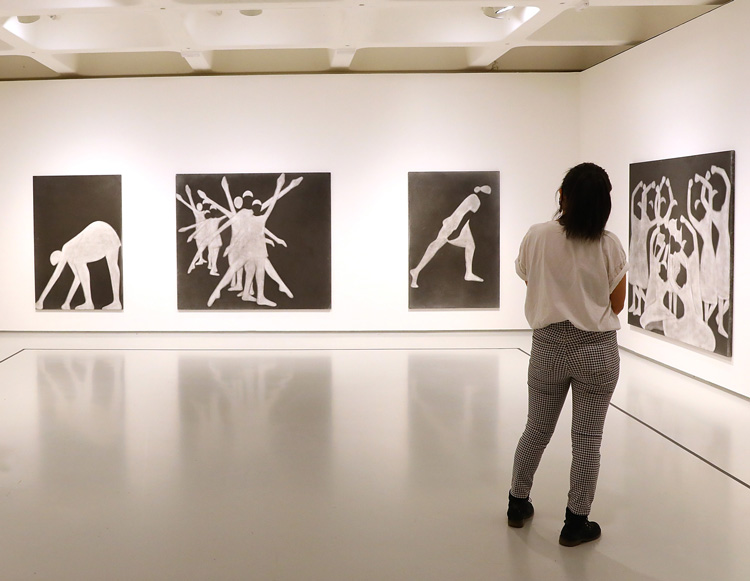 Silke Otto-Knapp room, installation view, Michael Clark: Cosmic Dancer, Barbican Art Gallery, 7 October 2020 – 3 January 2021. © Tim Whitby/Getty Images.
