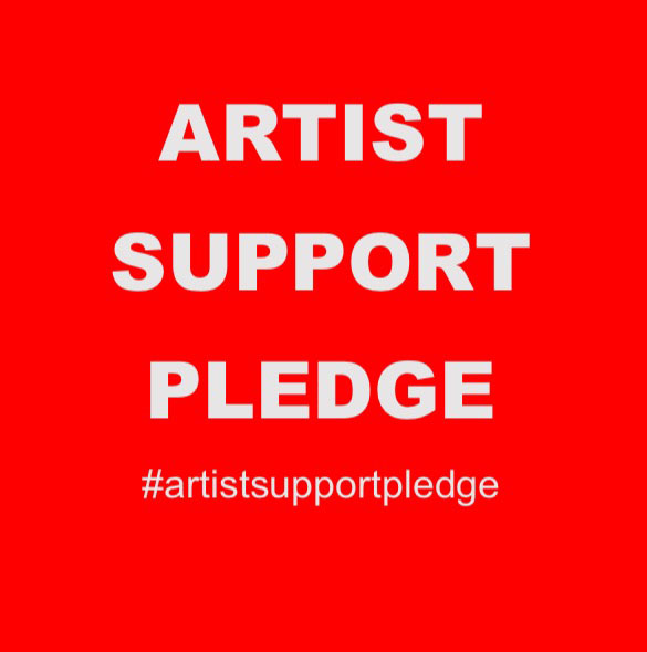 The image of the #artistsupportpledge post. © Matthew Burrows.