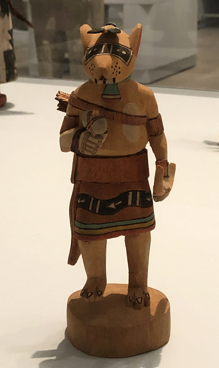 Preston Ami. Kachina Doll (Mouse), circa 1990. Cottonwood root, pigment. Hopi Pueblo, Arizona, United States. Photo: Antonio Rivera.