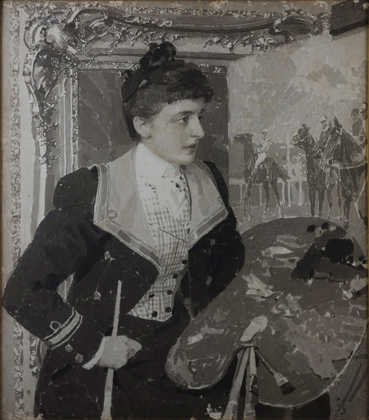 John Brown Abercromby. Mary Cameron in her Studio, 1899. Private collection. Photo: Eion Johnston.