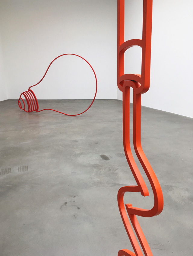 Michael Craig-Martin. Lightbulb and detail of Corkscrew. Photo: Veronica Simpson.