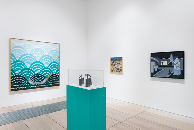 How Chicago! Imagists 1960s & 70s, installation view at Goldsmiths Centre for Contemporary Art, University of London, 2019, organised by Hayward Gallery Touring and in collaboration with De La Warr Pavilion, Bexhill-on-Sea. Photo © Mark Blower.