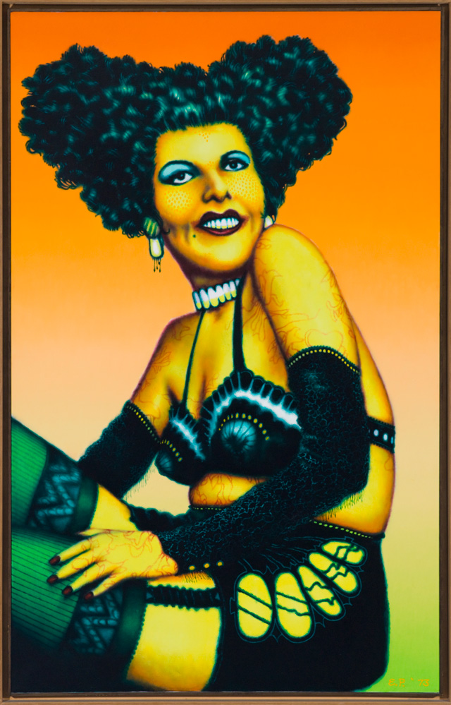 Ed Paschke, Elcina, 1973. © the Estate of Ed Paschke. Collection Museum of Contemporary Art Chicago, gift of Albert J. Bildner, 1974.5. Photo: Nathan Keay, © MCA Chicago.