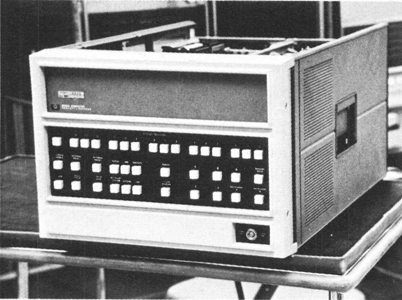 Figure 1: The Hewlett Packard 2100 A computer is a small, fast, general purpose machine characteristic of the `minis' now on the market