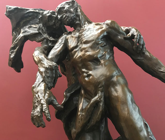 Camille Claudel. L'Âge mur (The Age of Maturity), 1887 (detail). © RMN-Grand Palais (Musée d'Orsay). Photograph: Martin Kennedy.