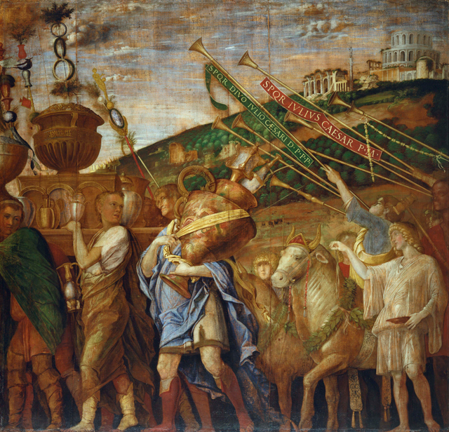 Andrea Mantegna. Triumph of Caesar: The Vase Bearers, c1484-92. Tempera on canvas, 269.5 x 280 cm. Royal Collection Trust / © Her Majesty Queen Elizabeth II 2017.