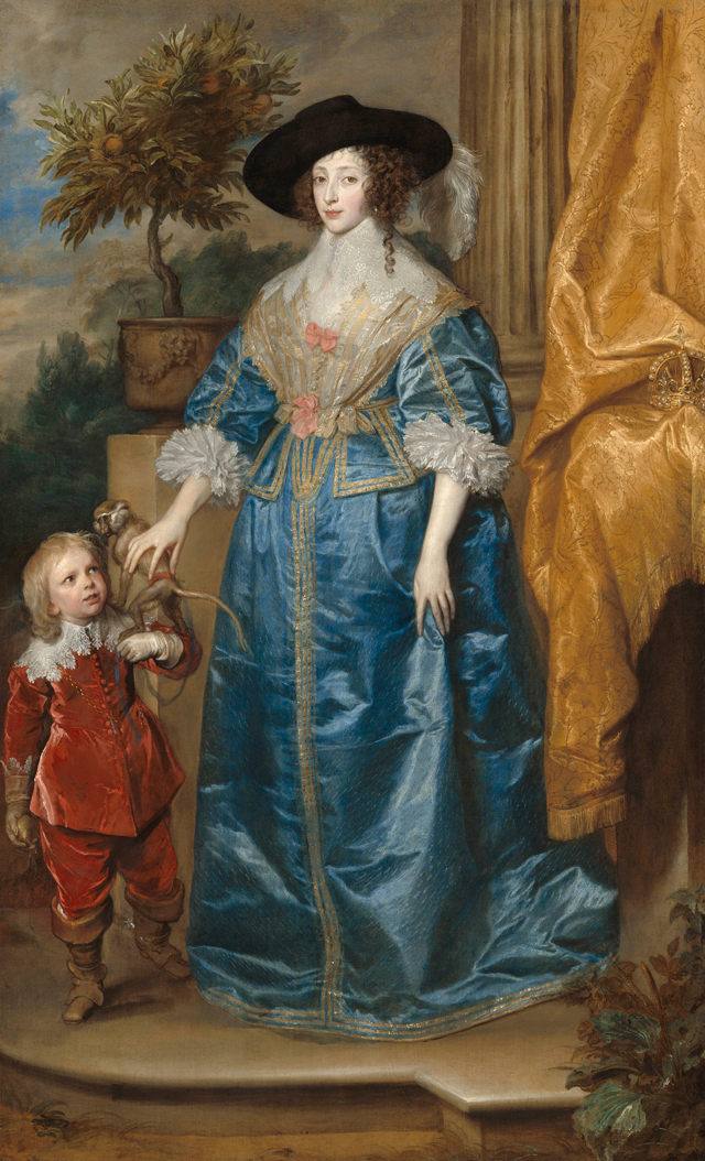 Anthony van Dyck. Queen Henrietta Maria with Sir Jeffrey Hudson, 1633. Oil on canvas, 219.1 x 134.8 cm. National Gallery of Art, Washington. Samuel H. Kress Collection. Photograph © Courtesy National Gallery of Art, Washington.