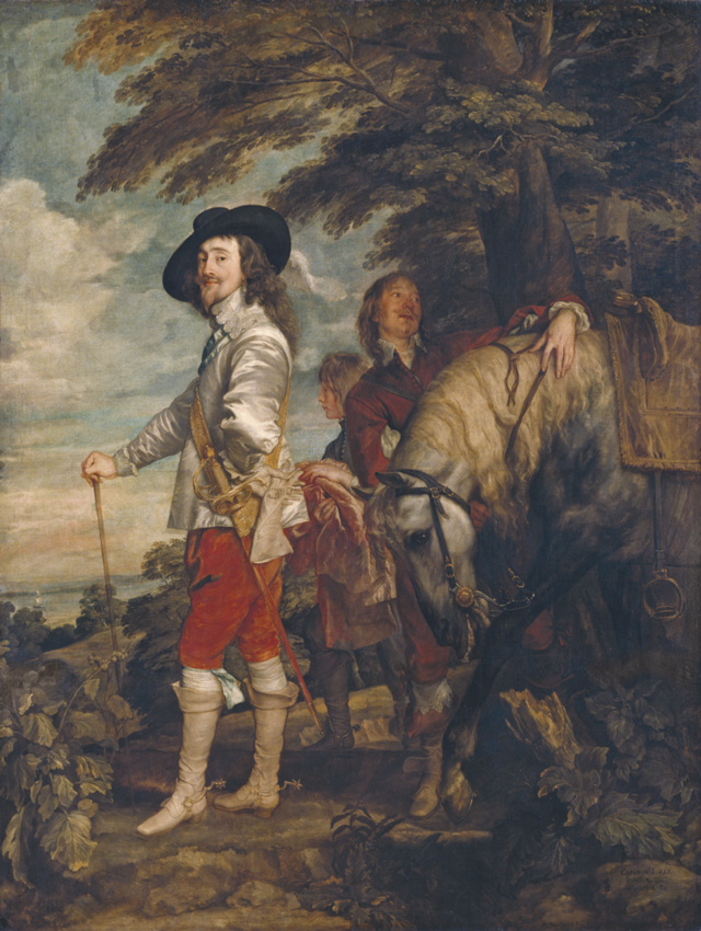 Anthony van Dyck (1599–1641. Charles I in the Hunting Field, c1636. Oil on canvas, 266 x 207 cm. Musée du Louvre, Paris, Department of Paintings. Photograph © RMN-Grand Palais (musée du Louvre) / Christian Jean.