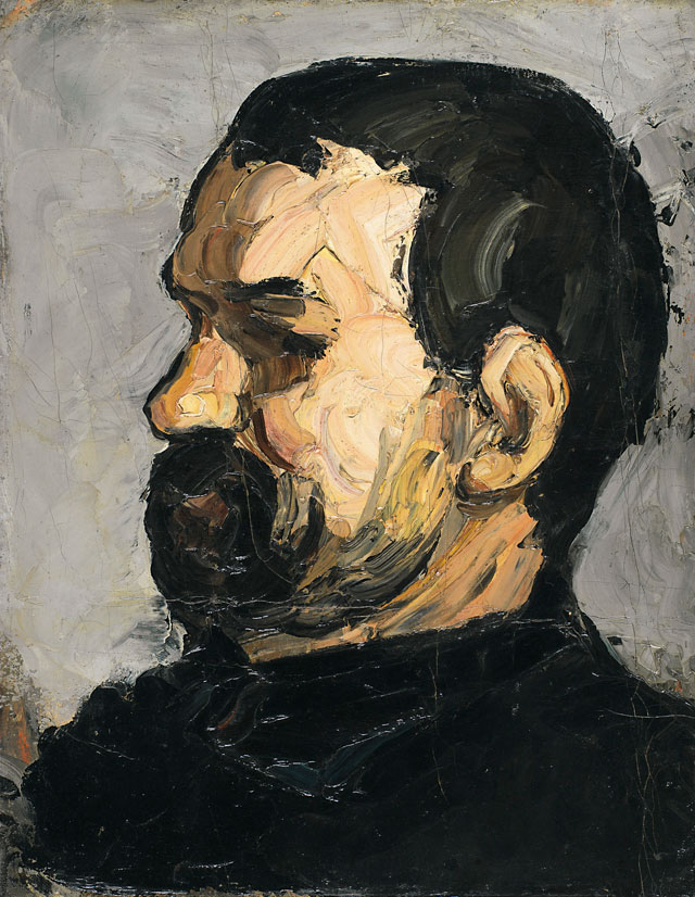 Paul Cézanne. Uncle Dominique in Profile, 1866-7. Lent by the Syndics of The Fitzwilliam Museum, Cambridge © The Provost and Scholars of King's College, Cambridge.