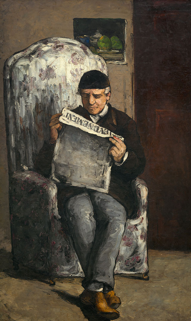 Paul Cézanne. The Artist's Father, Reading L'Evénement, 1866. National Gallery of Art, Washington, DC Collection of Mr and Mrs Paul Mellon