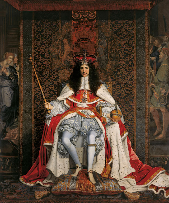 John Michael Wright, Charles II, c1676. Oil on canvas, 281.9 x 239.2 cm. Royal Collection Trust © Her Majesty Queen Elizabeth II.