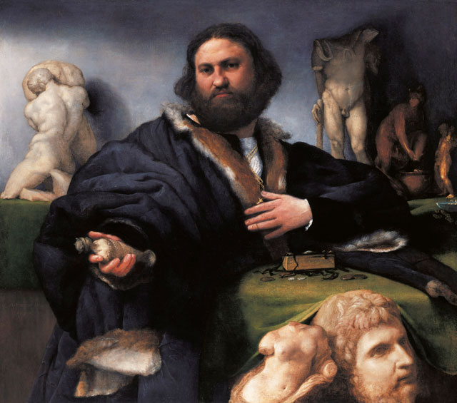Lorenzo Lotto, Andrea Odoni, 1527. 104.3 x 116.8 cm. Royal Collection Trust © Her Majesty Queen Elizabeth II.