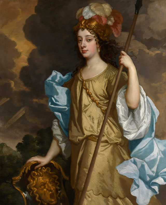 Sir Peter Lely, Barbara Villiers, Duchess of Cleveland, c1665.  Oil on canvas, 124.5 x 101. 4 cm. Royal Collection Trust © Her Majesty Queen Elizabeth II.