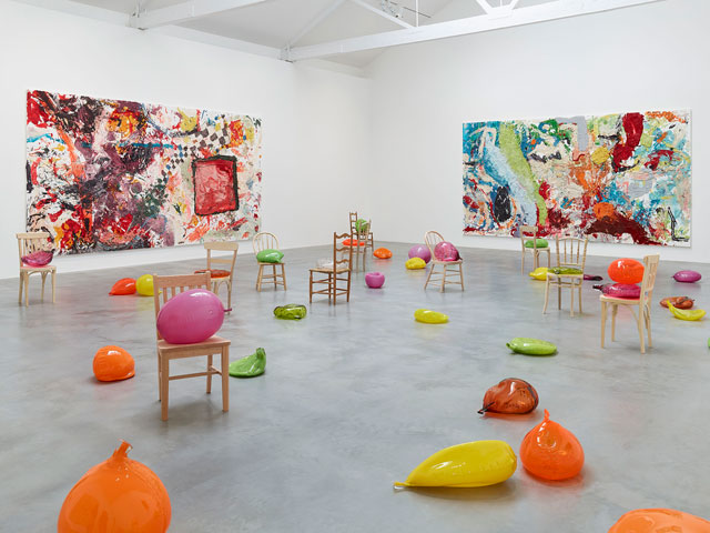 Dan Colen, Sweet Liberty Gallery 4. Photograph: Prudence Cumings Associates. Copyright by Dan Colen and Victor Mara Ltd.