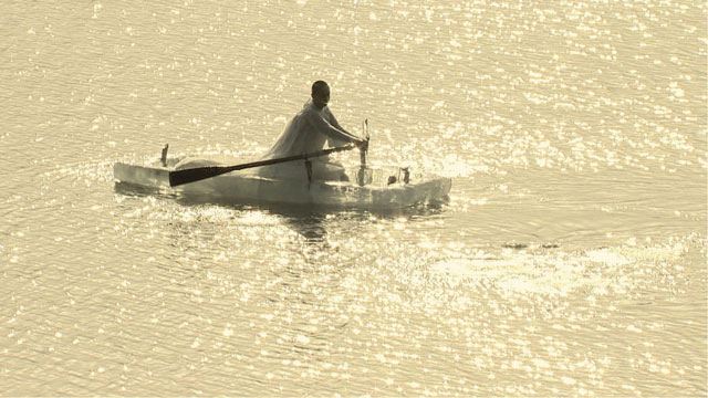 Neha Choksi. ICEBOAT (video still), 2013. HD, colour, widescreen, sound, 13 min 17 sec. Video still courtesy the artist.