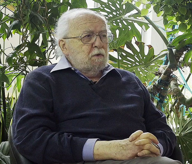 Harold Cohen talking to Studio International in his home studio, Encinitas, California, May 2015.