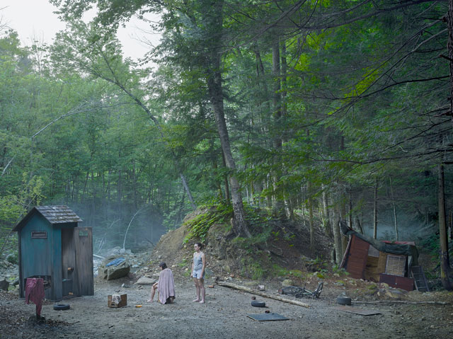 Gregory Crewdson. The Haircut 2014. Digital pigment print, 37 ½ × 50 in (95.25 × 127 cm). © Gregory Crewdson. Courtesy Gagosian.