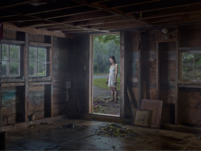 Gregory Crewdson. The Shed, 2013. Digital pigment print, 37 ½ × 50 in (95.25 × 127 cm). © Gregory Crewdson. Courtesy Gagosian Gallery.