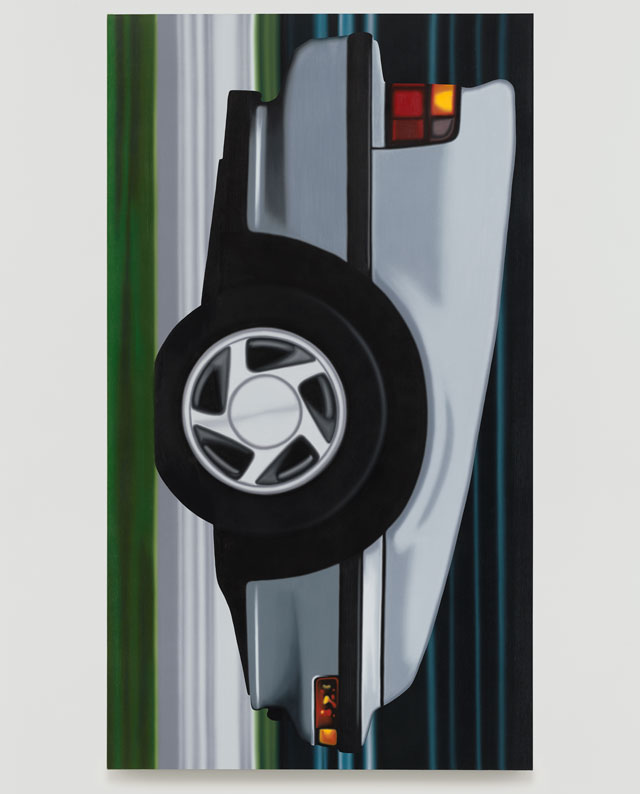 Peter Cain. Prelude #3, 1990. Oil on canvas, 85 x 48 in (216 x 122 cm). © Peter Cain, courtesy Matthew Marks Gallery.