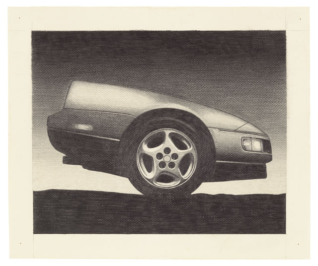 Peter Cain. Z, 1990. Graphite on paper, 16 1/2 x 20 1/2 in (42 x 52 cm). © Peter Cain, courtesy Matthew Marks Gallery.