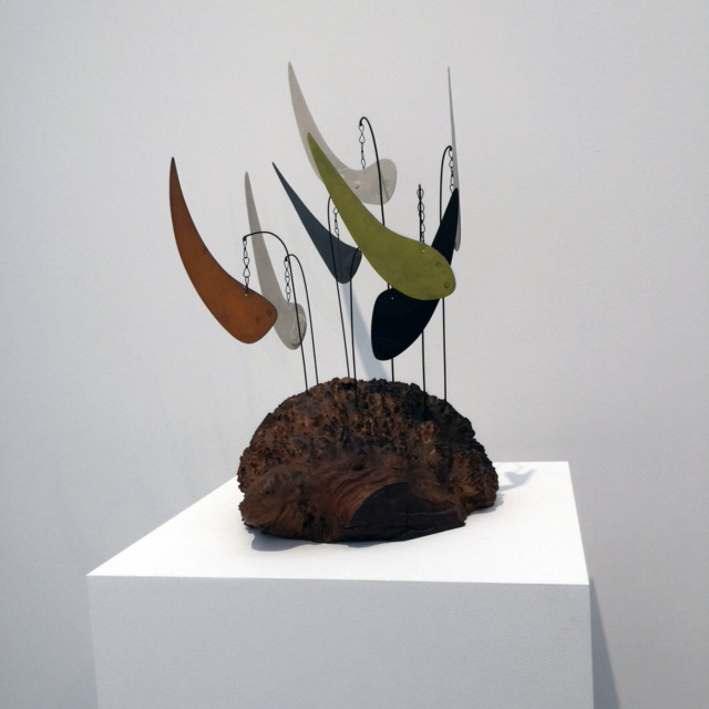 Alexander Calder. Myrtle Burl, 1941. Wood, sheet metal, wire, and paint. 24 1/2 × 20 × 16 in (62.2 × 50.8 × 40.6 cm). Calder Foundation, New York; Mary Calder Rower Bequest, 2011. Photograph: Jill Spalding.