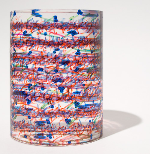 Pouran Jinchi. Transparency #18, 2012. Plexiglas and permanent marker,  4 x 3 in (10.2 x 7.6 cm).
