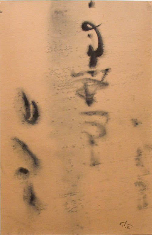 Mark Tobey. Calligraphic, 1956. Ink on paper, 17.75 x 11.5in (45.09 x 29.21 cm).