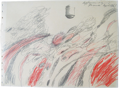 Cy Twombly. Untitled (Study for