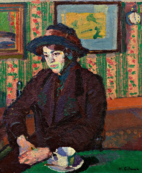 Harold Gilman. <em>Girl with a Teacup</em>, c. 1914-1915. Oil on canvas,&nbsp;790 x 690 x 60 mm. Private Collection