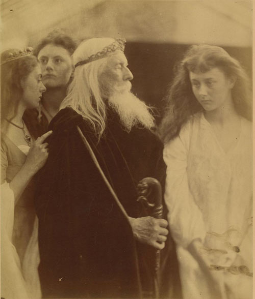 Julia Margaret Cameron. King Lear Alotting His Kingdom to His Three Daughters, 1872. Albumen silver print from glass negative. Bequest of Maurice B. Sendak, 2013. The Metropolitan Museum of Art.