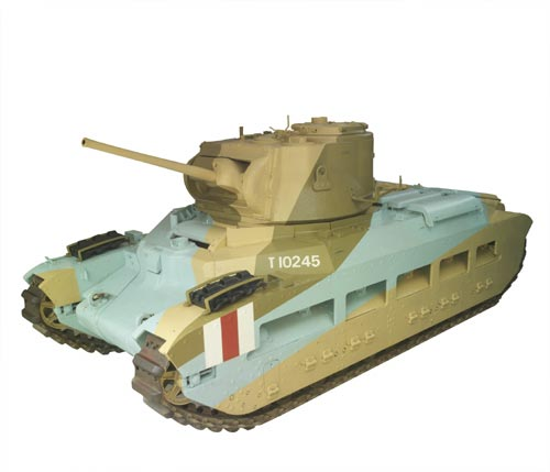 Matilda Mk II tank in desert camouflage, Second World War Imperial War Museum
