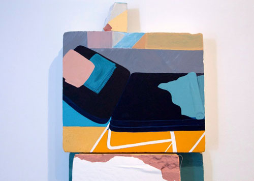 Jennifer Campbell. 30 Minutes, 2015. Acrylic on foam-board with mixed media, 185 x 60 x 26 cm.