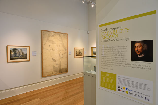 Noble Prospects: Capability Brown and the Yorkshire Landscape, gallery view (1), Mercer Art Gallery, Harrogate, 2016.