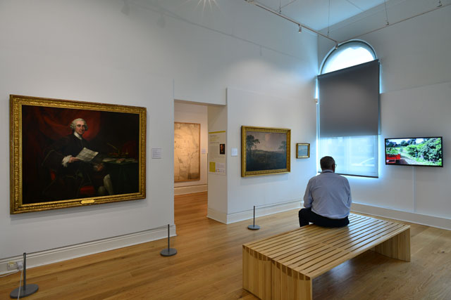 Noble Prospects: Capability Brown and the Yorkshire Landscape, gallery view (2), Mercer Art Gallery, Harrogate, 2016.