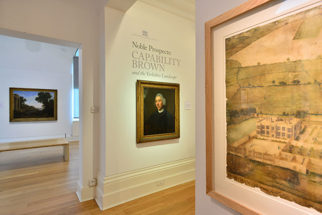 Noble Prospects: Capability Brown and the Yorkshire Landscape, gallery view (3), Mercer Art Gallery, Harrogate, 2016.