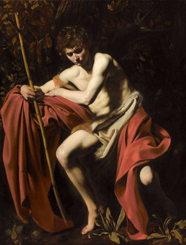 Michelangelo Merisi da Caravaggio. Saint John the Baptist in the Wilderness, about 1603-4. Oil on canvas, 172.7 × 132.1 cm. The Nelson - Atkins Museum of Art, Kansas City, Missouri