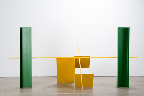 Anthony Caro. First National, 1964. Photograph: Jonty Wilde. Installation view of Caro in Yorkshire at Yorkshire Sculpture Park. Image courtesy of Barford Sculptures Ltd.