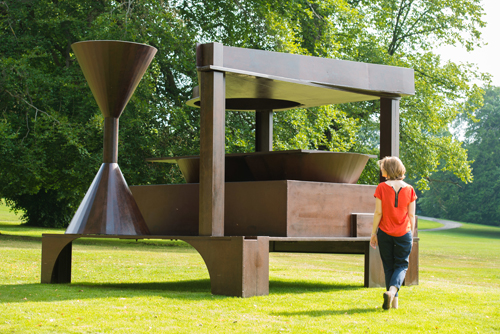 Anthony Caro. Forum, 1992-94. Installation view of Caro in Yorkshire at Yorkshire Sculpture Park. Photograph: Jonathan Pow. Image courtesy of Barford Sculptures Ltd.