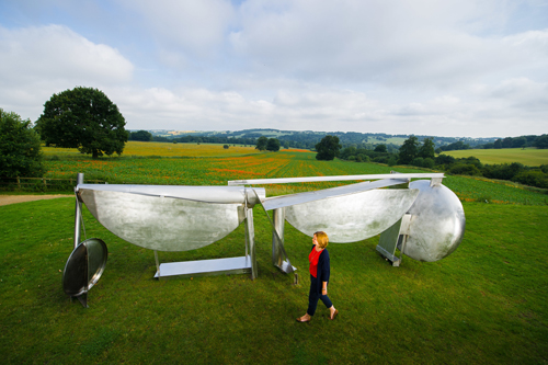 Anthony Caro. Double Shot, 1987/93. Installation view of Caro in Yorkshire at Yorkshire Sculpture Park. Photograph: Jonathan Pow. Image courtesy of Barford Sculptures Ltd.