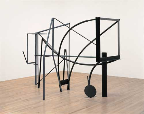 Anthony Caro (b.1924), Emma Dipper 1977. Steel, rusted and painted grey 213 x 170 x 320 cm. Tate. Presented by the artist 1982 © the artist, Barford Sculptures Ltd
